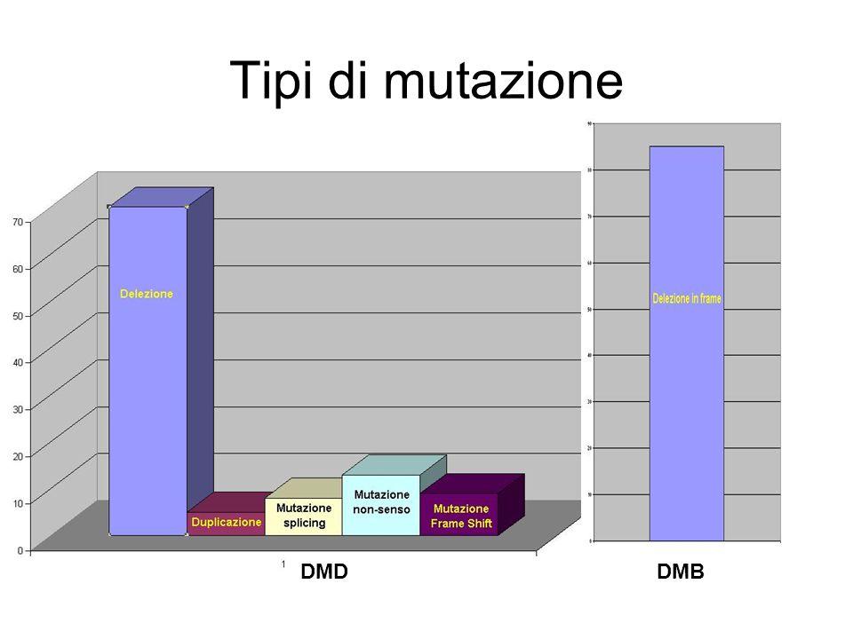 Tipi di mutazione DMDDMB
