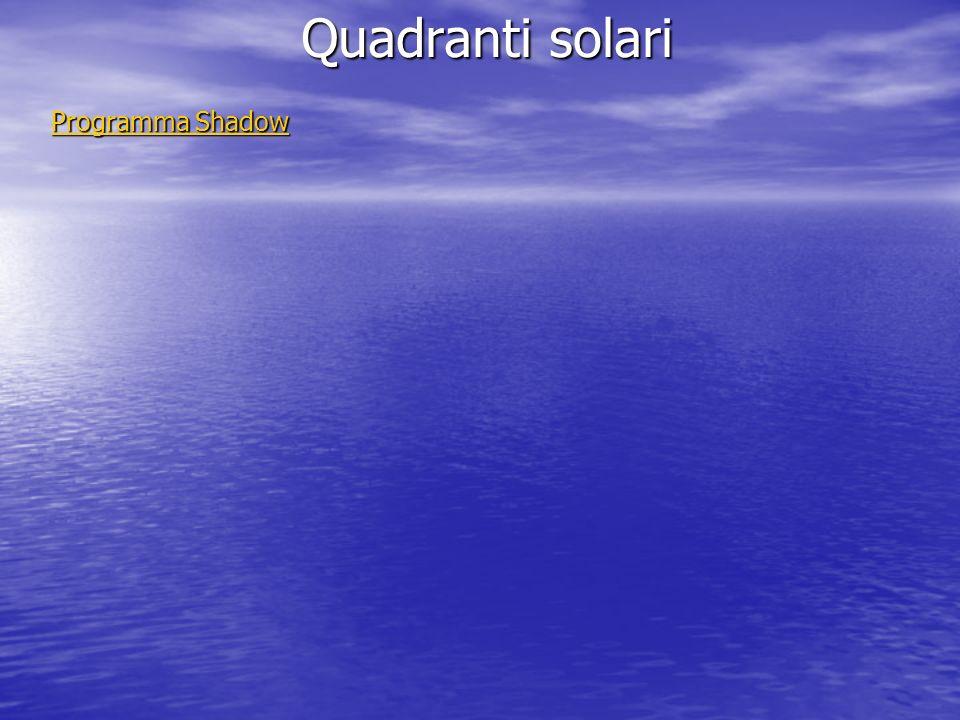 Quadranti solari Programma Shadow Programma Shadow
