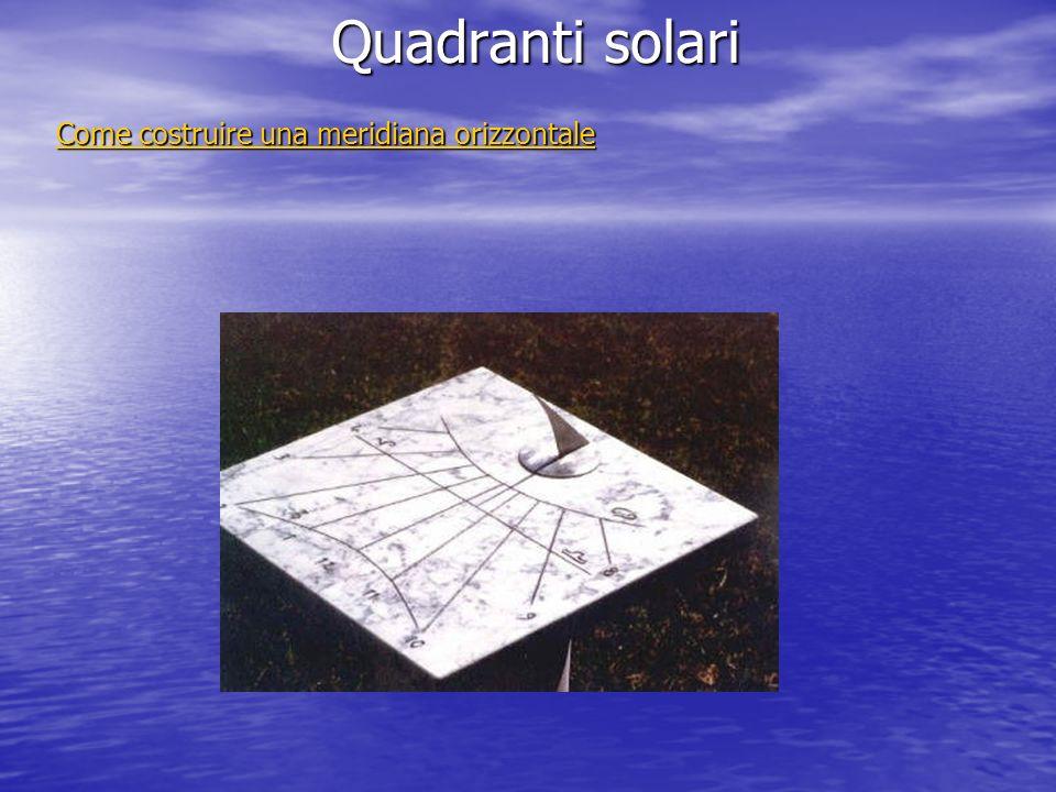 Quadranti solari Come costruire una meridiana orizzontale Come costruire una meridiana orizzontale
