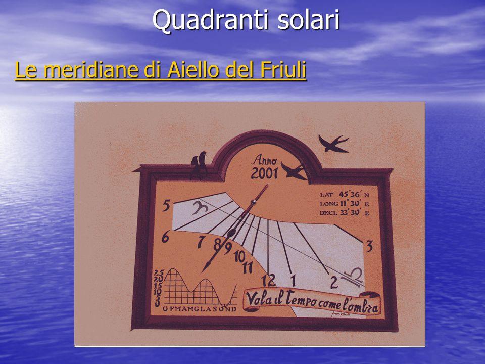 Quadranti solari Le meridiane di Aiello del Friuli Le meridiane di Aiello del Friuli