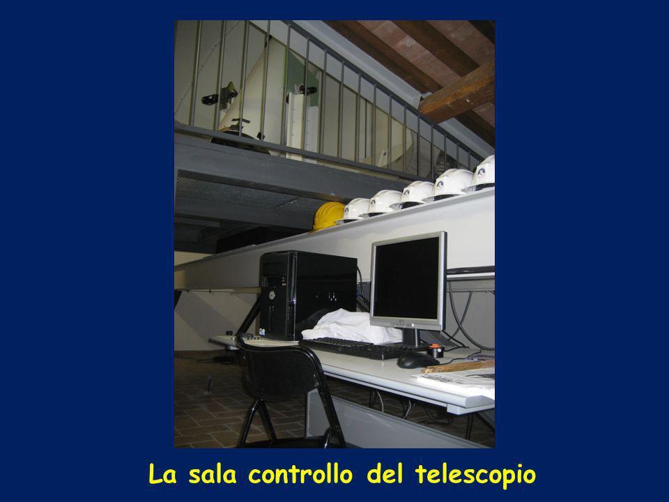 La sala controllo del telescopio