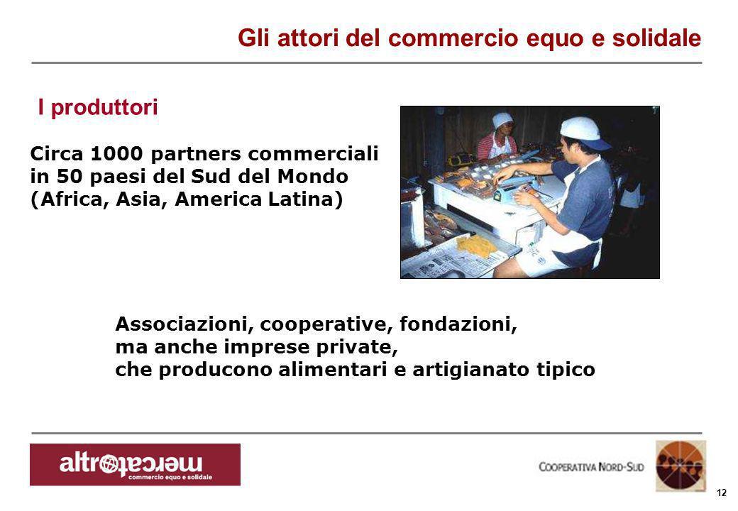 Consorzio Ctm altromercato info@altromercato.it www.altromercato.it 12 Circa 1000 partners commerciali in 50 paesi del Sud del Mondo (Africa, Asia, Am