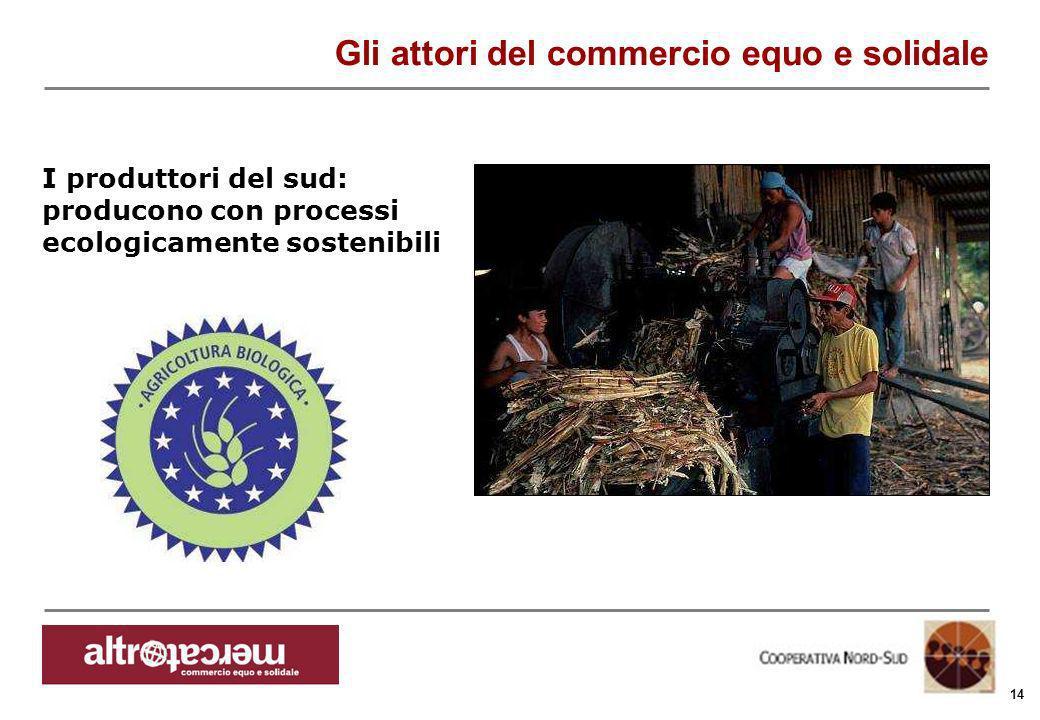 Consorzio Ctm altromercato info@altromercato.it www.altromercato.it 14 Gli attori del commercio equo e solidale I produttori del sud: producono con pr