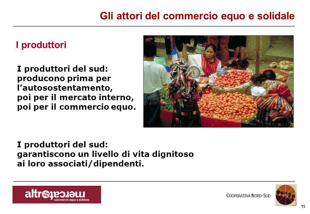 Consorzio Ctm altromercato info@altromercato.it www.altromercato.it 15 I produttori del sud: producono prima per lautosostentamento, poi per il mercat
