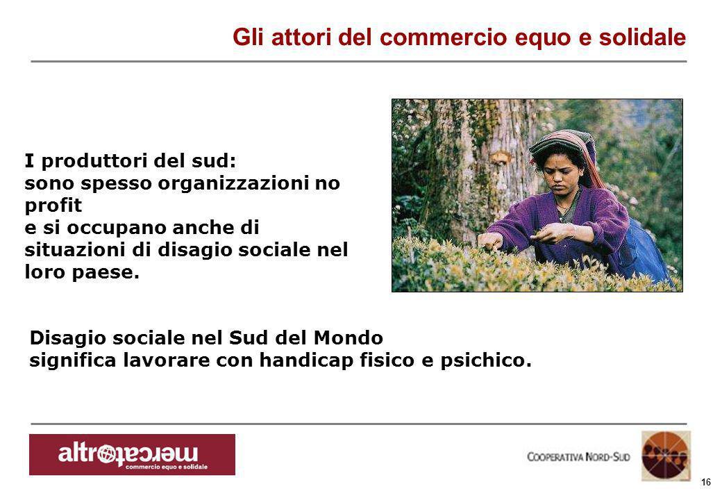 Consorzio Ctm altromercato info@altromercato.it www.altromercato.it 16 I produttori del sud: sono spesso organizzazioni no profit e si occupano anche