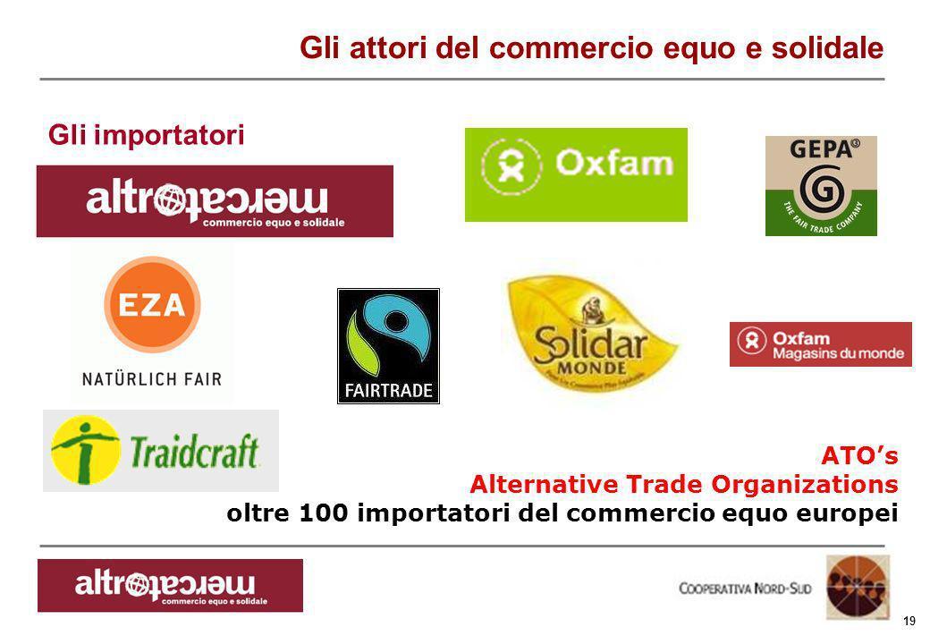Consorzio Ctm altromercato info@altromercato.it www.altromercato.it 19 ATOs Alternative Trade Organizations oltre 100 importatori del commercio equo e