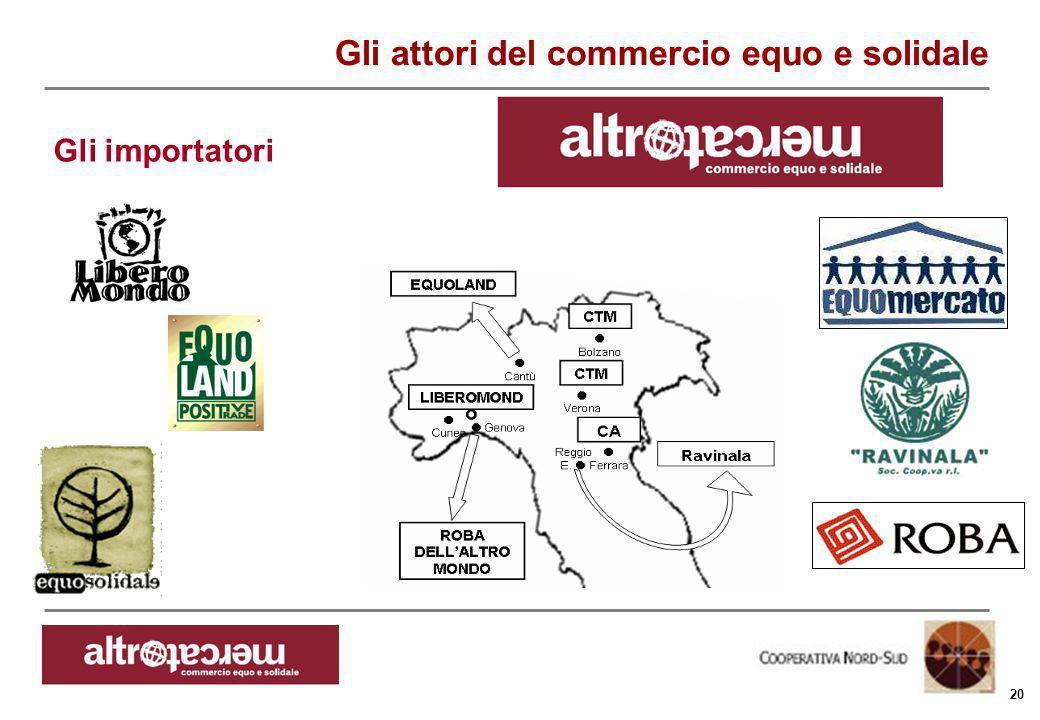 Consorzio Ctm altromercato info@altromercato.it www.altromercato.it 20 Gli attori del commercio equo e solidale Gli importatori