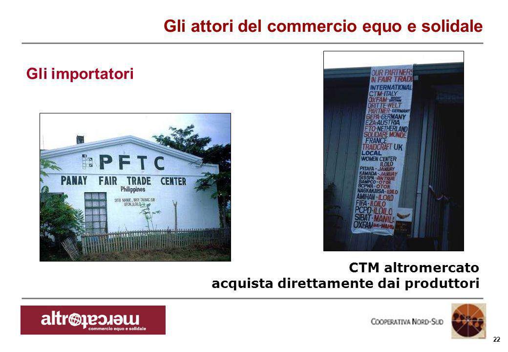 Consorzio Ctm altromercato info@altromercato.it www.altromercato.it 22 CTM altromercato acquista direttamente dai produttori Gli attori del commercio