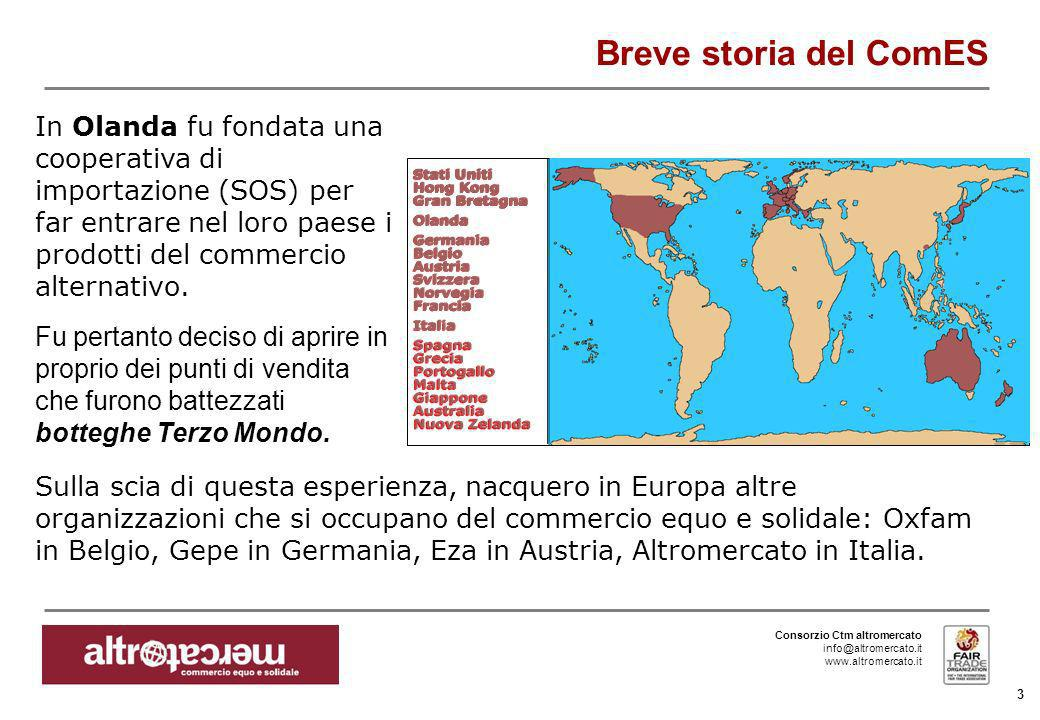 Consorzio Ctm altromercato info@altromercato.it www.altromercato.it 3 Breve storia del ComES In Olanda fu fondata una cooperativa di importazione (SOS