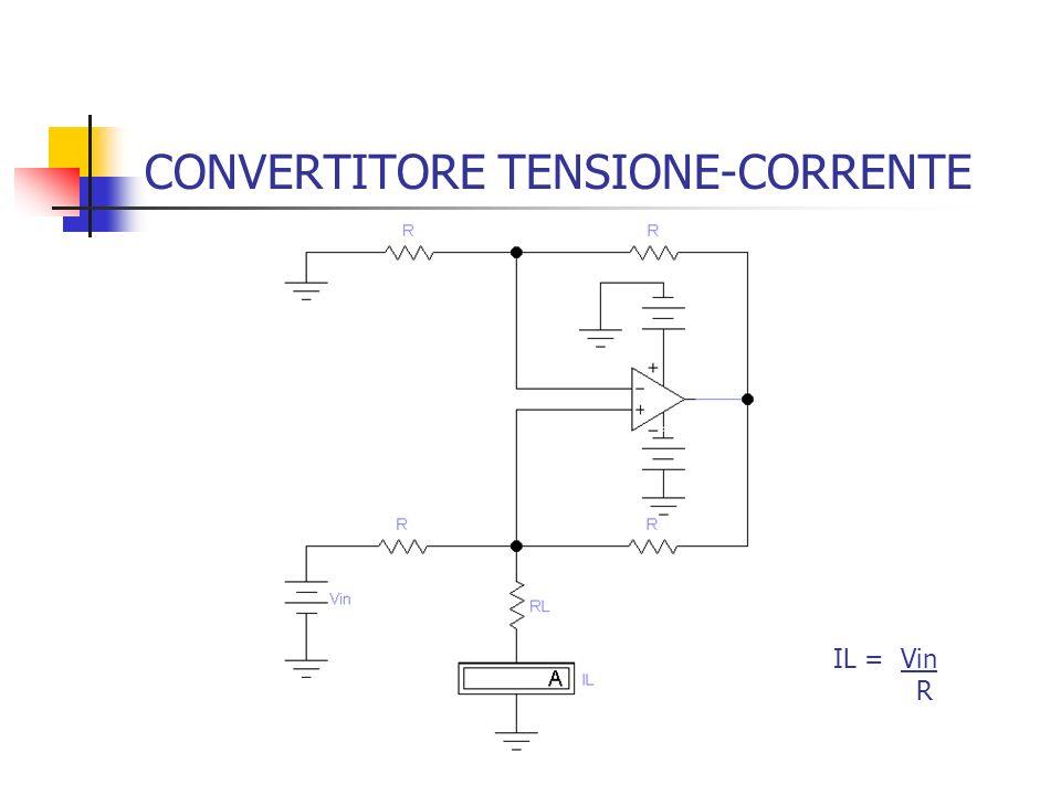 CONVERTITORE TENSIONE-CORRENTE IL = Vin R
