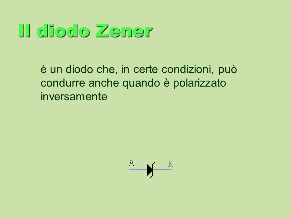 Il diodo Zener è un diodo che, in certe condizioni, può condurre anche quando è polarizzato inversamente