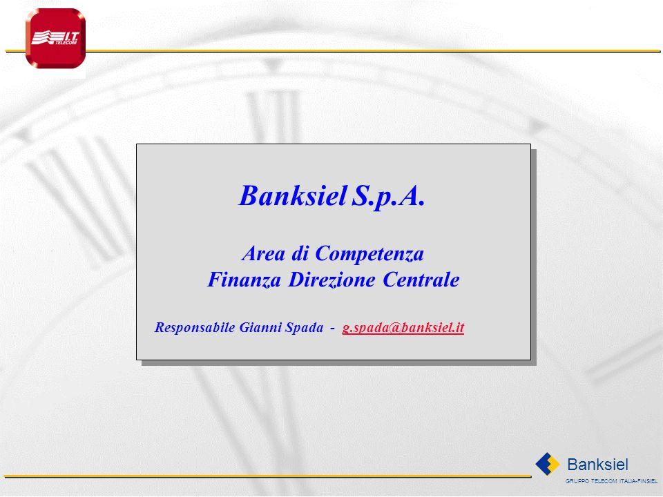 GRUPPO TELECOM ITALIA-FINSIEL Banksiel Banksiel S.p.A.