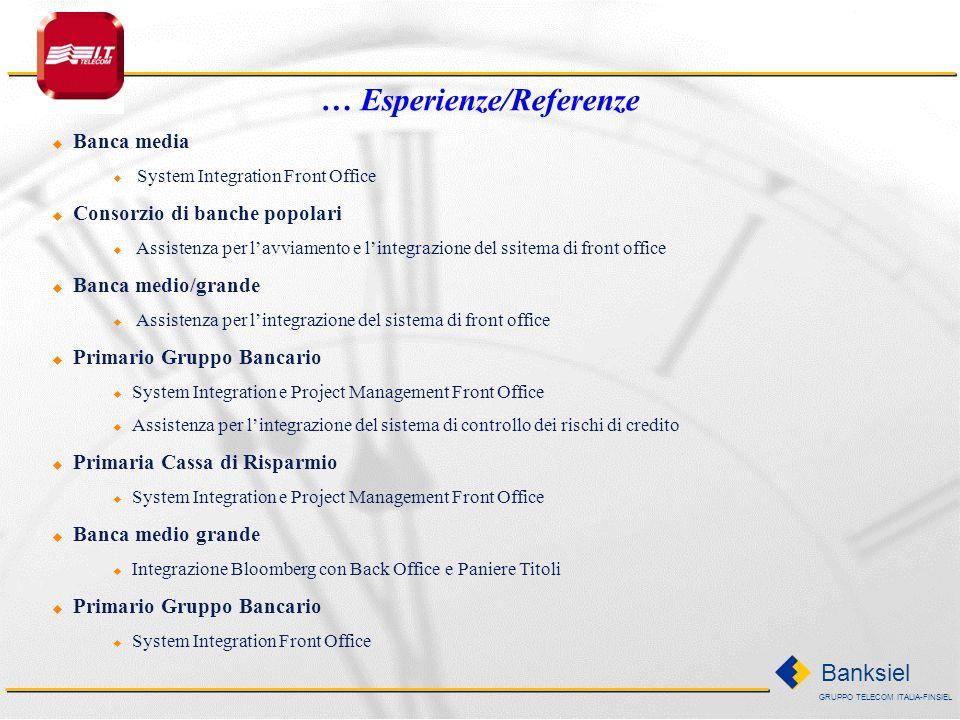 GRUPPO TELECOM ITALIA-FINSIEL Banksiel Primario Gruppo Bancario Consulenza per la definizione del Modello di Finanza di Gruppo Banca Media System Inte