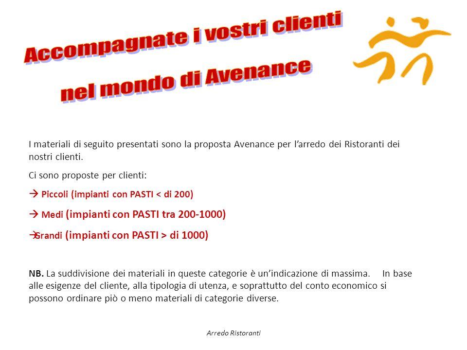 I materiali di seguito presentati sono la proposta Avenance per larredo dei Ristoranti dei nostri clienti.