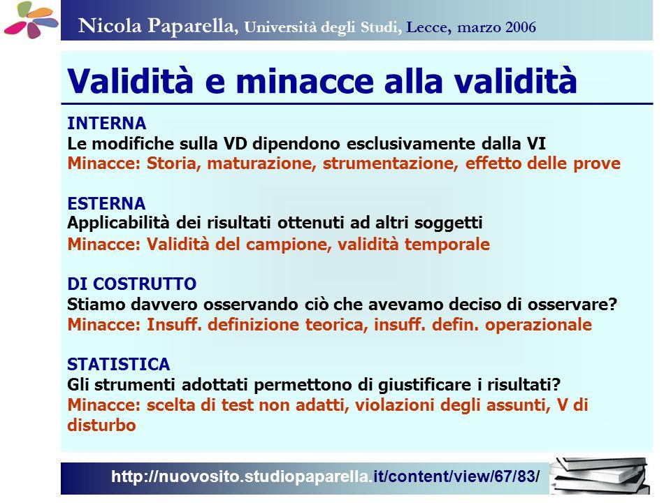Nicola Paparella, Università degli Studi, Lecce, marzo 2006 http://nuovosito.studiopaparella.it/content/view/67/83/ INTERNA Le modifiche sulla VD dipe