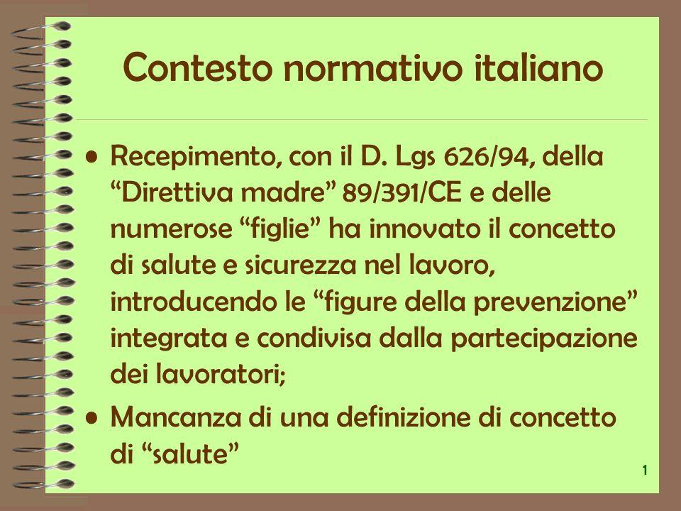 Contesto normativo italiano Aspetto psichico richiamato indirettamente L.