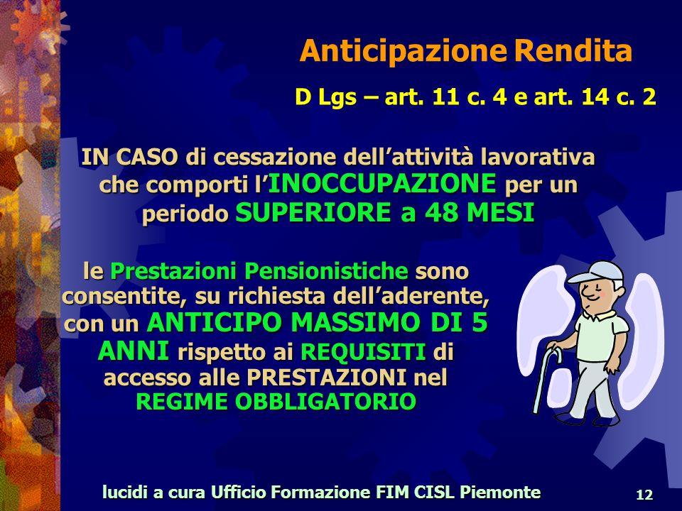 lucidi a cura Ufficio Formazione FIM CISL Piemonte 12 D Lgs – art.