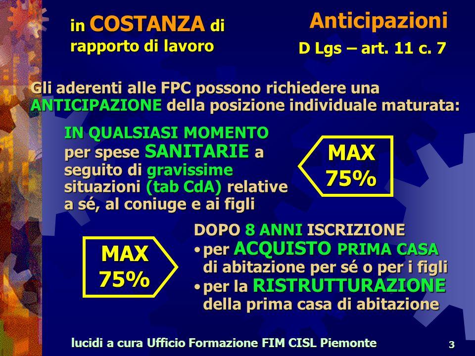 lucidi a cura Ufficio Formazione FIM CISL Piemonte 3 D Lgs – art.