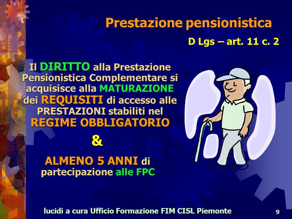 lucidi a cura Ufficio Formazione FIM CISL Piemonte 9 D Lgs – art.