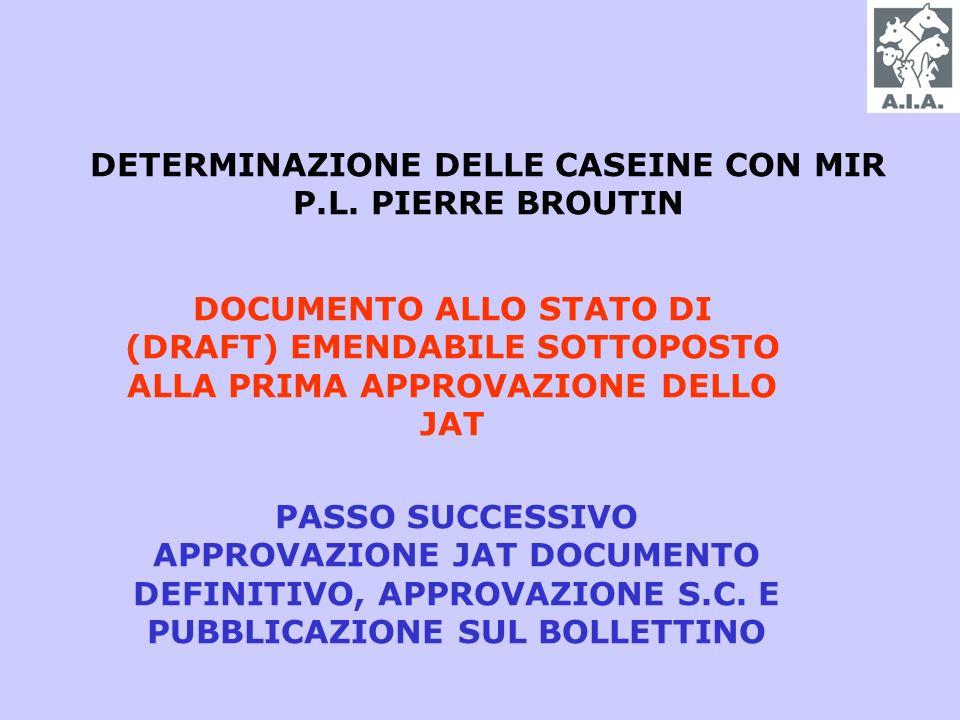 DETERMINAZIONE DELLE CASEINE CON MIR P.L.
