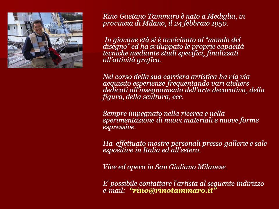 Rino Gaetano Tammaro è nato a Mediglia, in provincia di Milano, il 24 febbraio 1950. In giovane età si è avvicinato al mondo del disegno ed ha svilupp