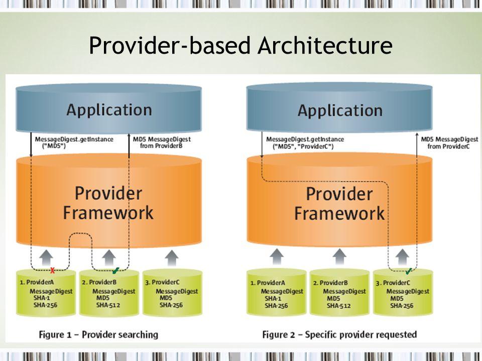 Provider-based Architecture