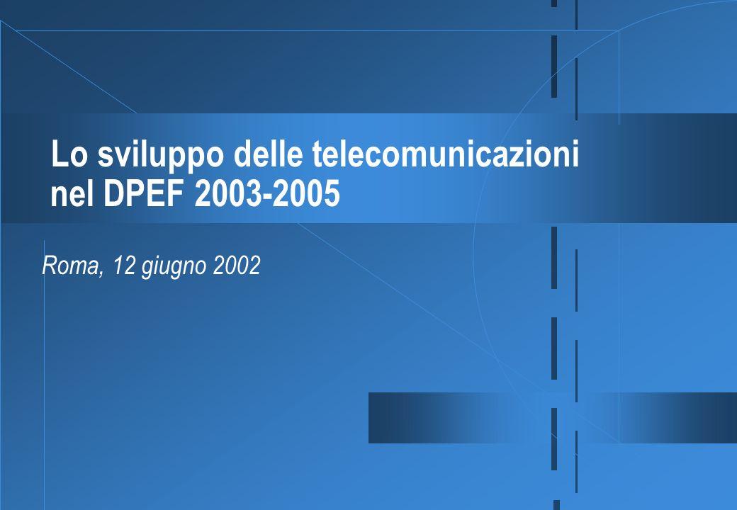 Lo sviluppo delle telecomunicazioni nel DPEF 2003-2005 Roma, 12 giugno 2002