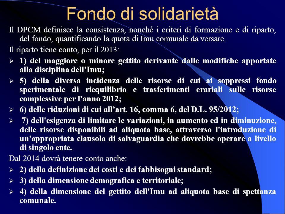 ropol13 Legge di stabilità n. 228/2012 Il comma 380, dal 2013: - sopprime il Fondo Sperimentale di Riequilibrio (lettera e); - istituisce il Fondo di