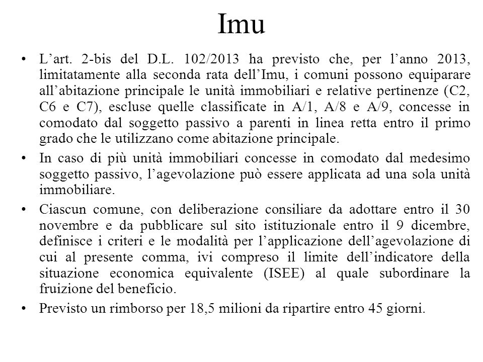Imu Lart.8, comma 2, del D.L.