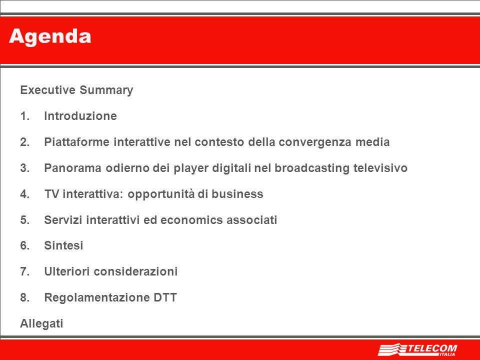 BozzaOperational Planning2 Executive Summary 1.Introduzione 2.Piattaforme interattive nel contesto della convergenza media 3.Panorama odierno dei play