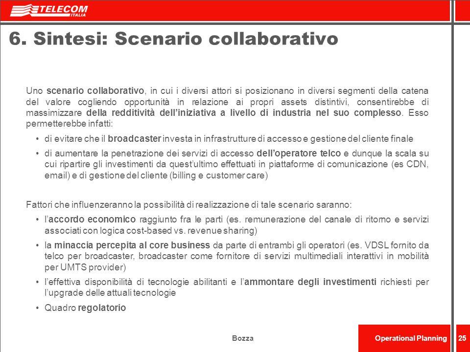 BozzaOperational Planning25 6. Sintesi: Scenario collaborativo Uno scenario collaborativo, in cui i diversi attori si posizionano in diversi segmenti
