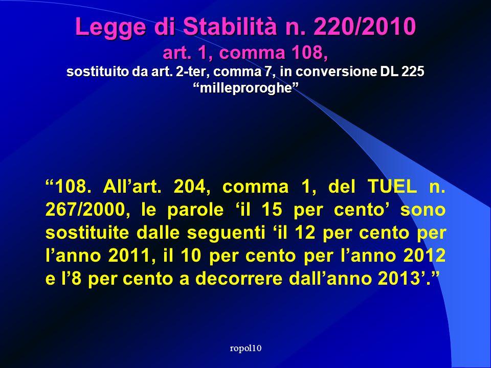ropol10 GESTIONE DEL DEBITO
