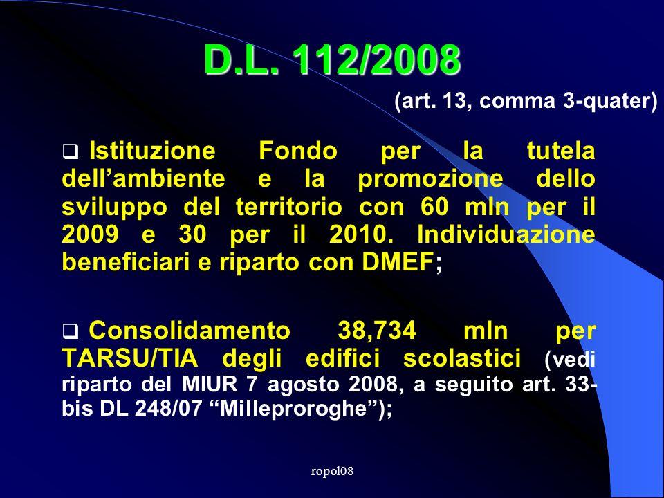 ropol08 D.L. 112/2008 ENTRATETRIBUTARIE