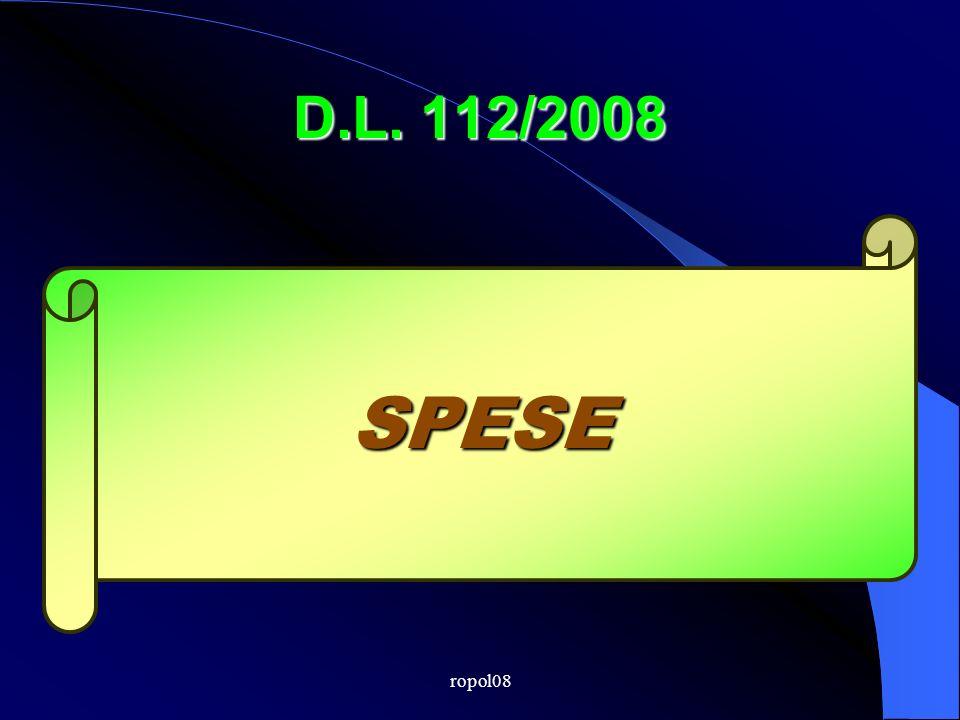 ropol08 D.L. 112/2008 SPESE