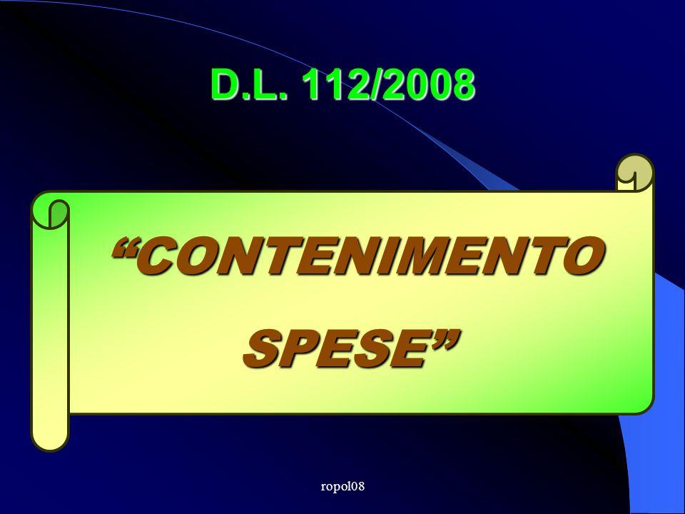ropol08 D.L. 112/2008 CONTENIMENTOSPESE