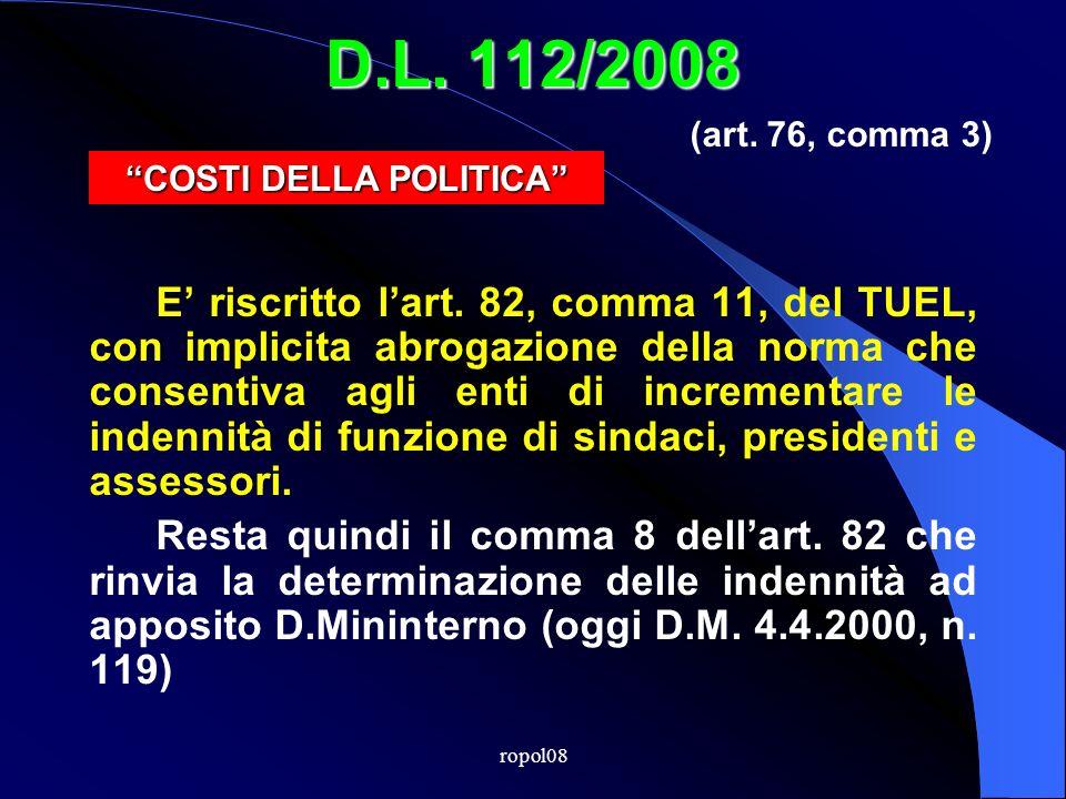 ropol08 D.L. 112/2008 E riscritto lart.