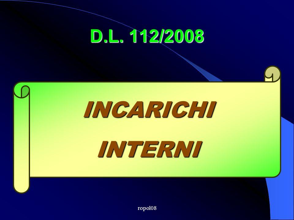 ropol08 D.L. 112/2008 INCARICHIINTERNI