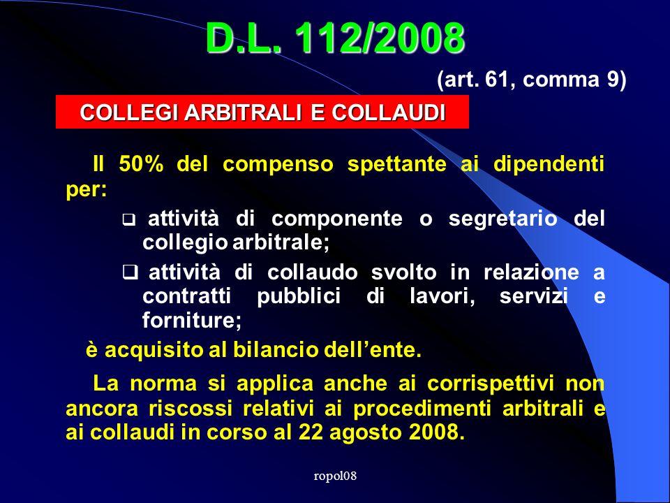ropol08 D.L. 112/2008 INCARICHIESTERNI