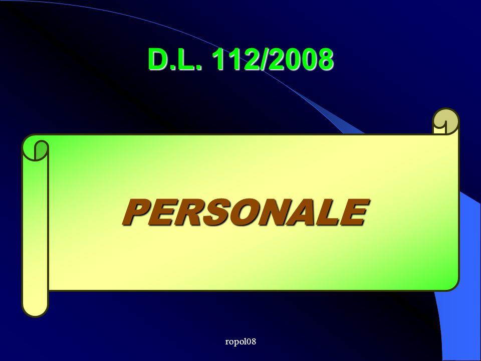 ropol08 D.L. 112/2008 PERSONALE