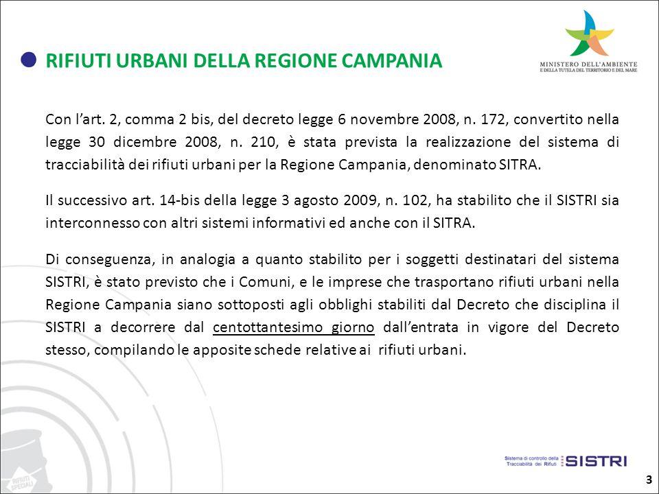 3 RIFIUTI URBANI DELLA REGIONE CAMPANIA Con lart.