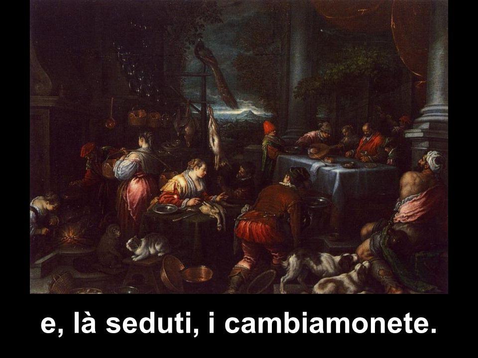 Allora fece una frusta di cordicelle e scacciò tutti fuori del tempio, con le pecore e i buoi;