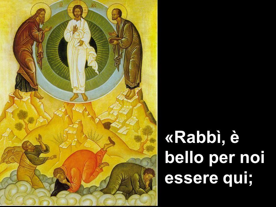 La trasfigurazione diventa un dono, uno sguardo di speranza su questo faticoso cammino verso Gerusalemme che Gesù compie con i suoi discepoli.