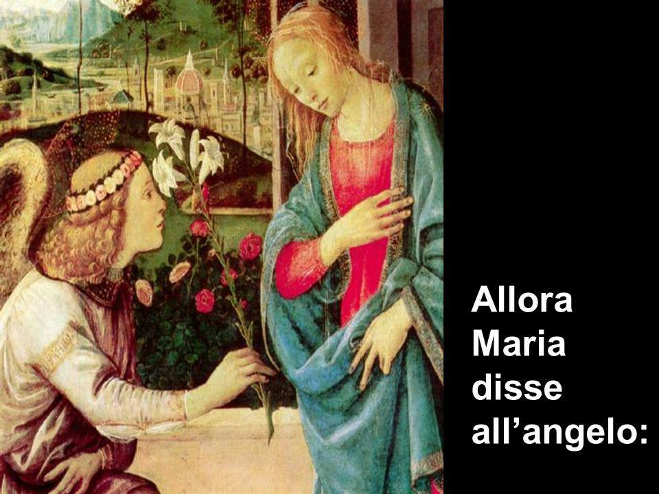 Allora Maria disse allangelo: