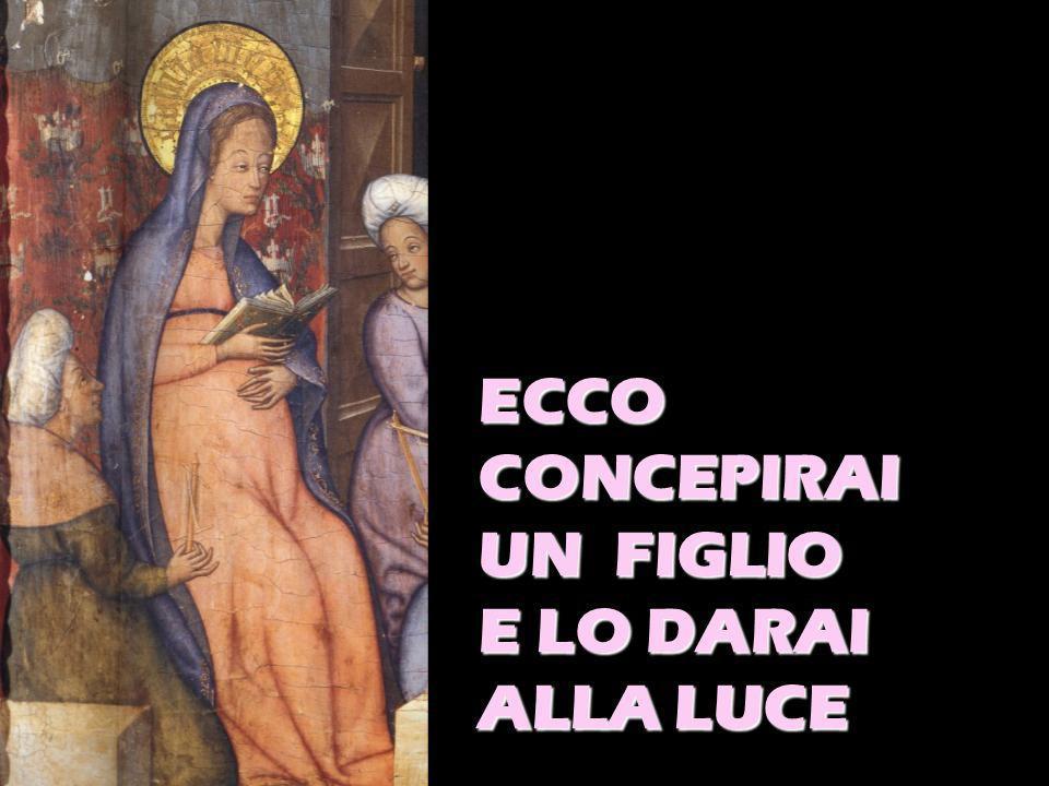ECCO CONCEPIRAI UN FIGLIO E LO DARAI ALLA LUCE
