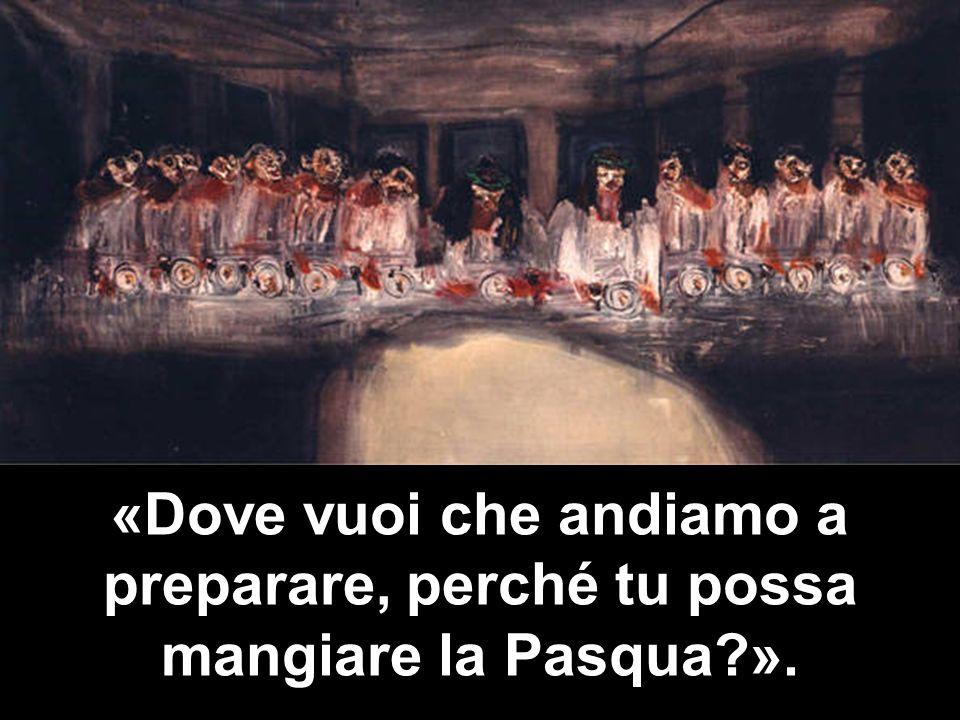 Allora mandò due dei suoi discepoli, dicendo loro: