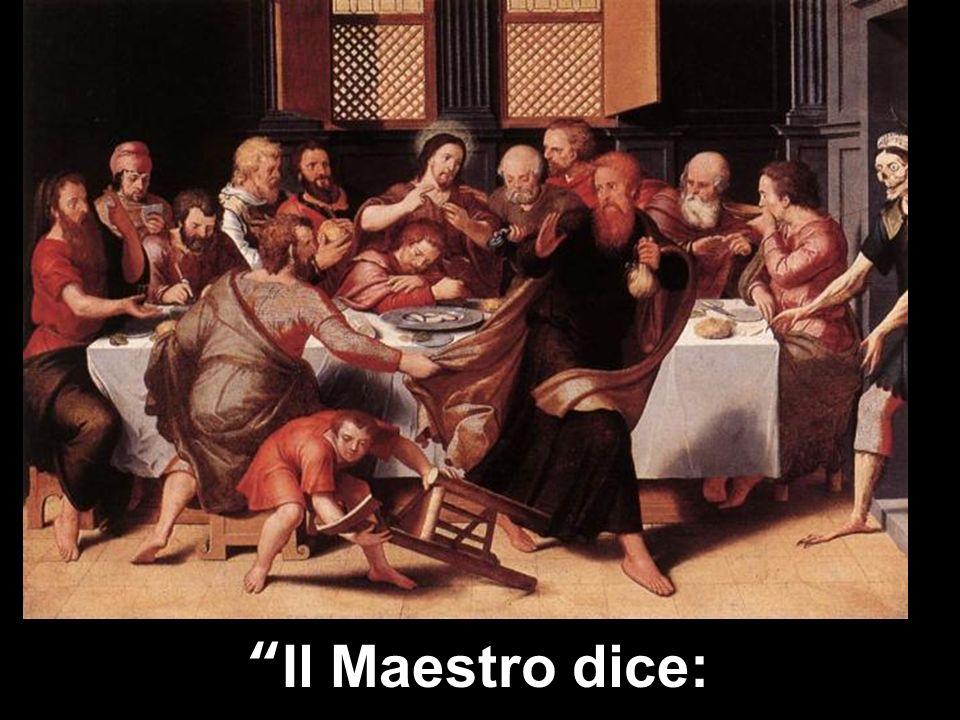 Dovè la mia stanza, in cui io possa mangiare la Pasqua con i miei discepoli?.