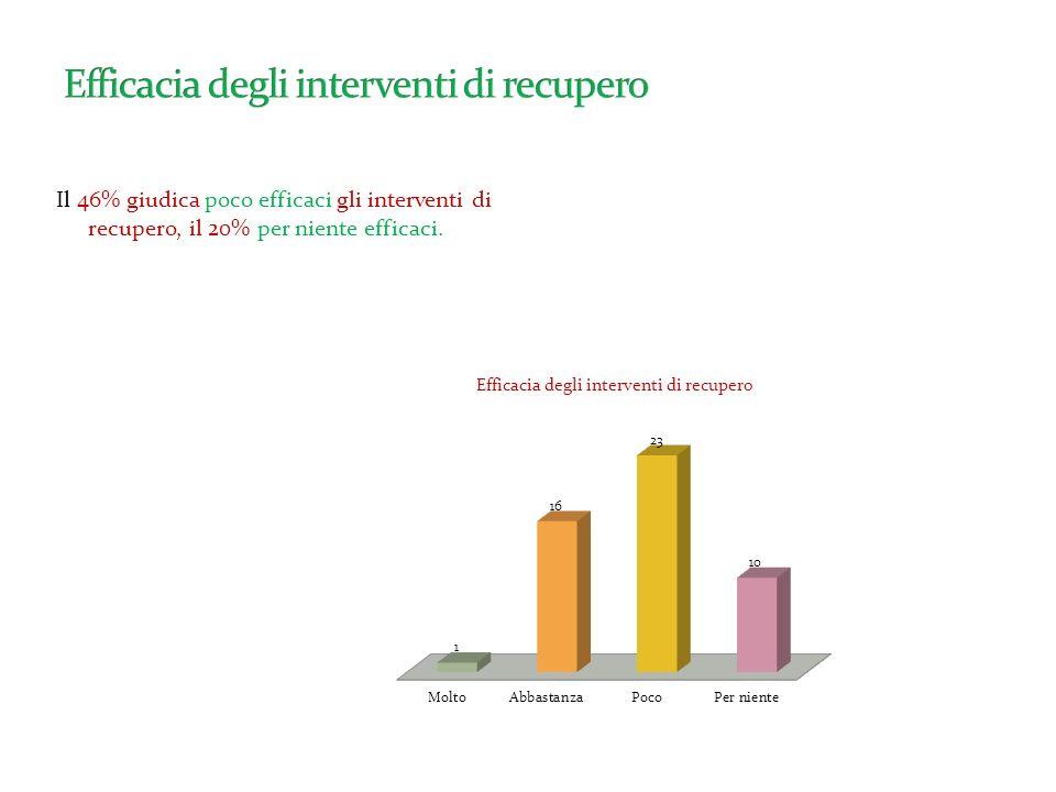 Il 53% ritiene che le decisioni siano poco condivise, mentre il 20% circa ritiene che non siano affatto condivise.