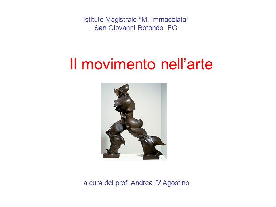 Istituto Magistrale M. Immacolata San Giovanni Rotondo FG Il movimento nellarte a cura del prof. Andrea D Agostino
