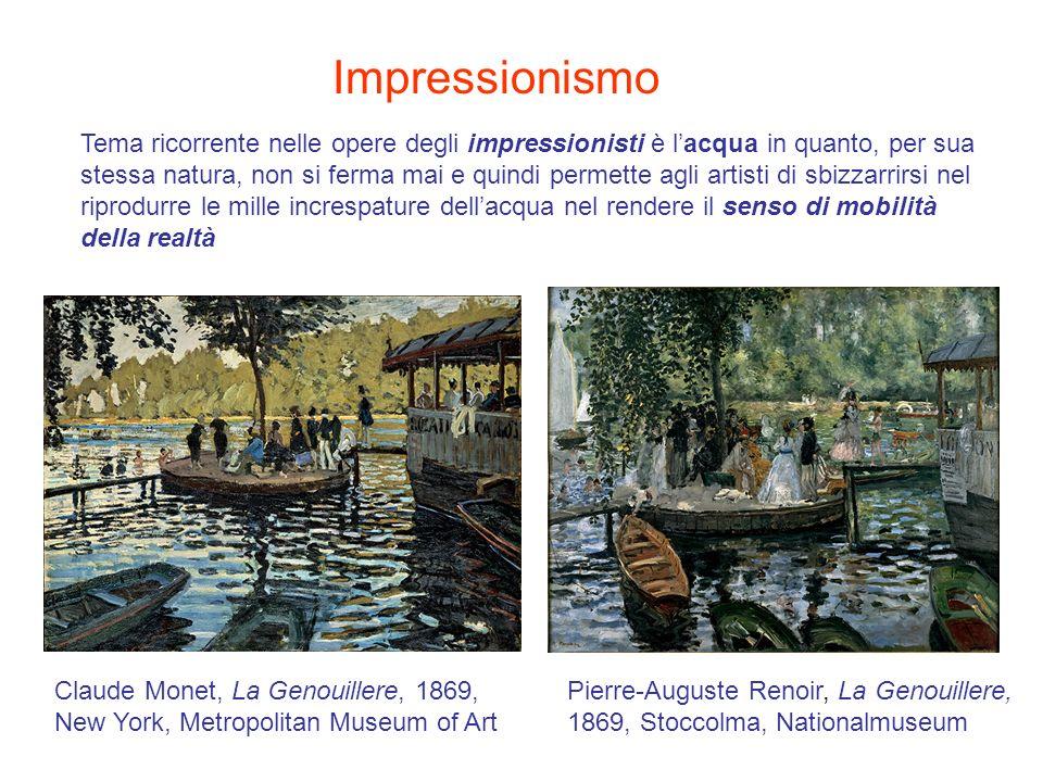 Impressionismo Tema ricorrente nelle opere degli impressionisti è lacqua in quanto, per sua stessa natura, non si ferma mai e quindi permette agli art