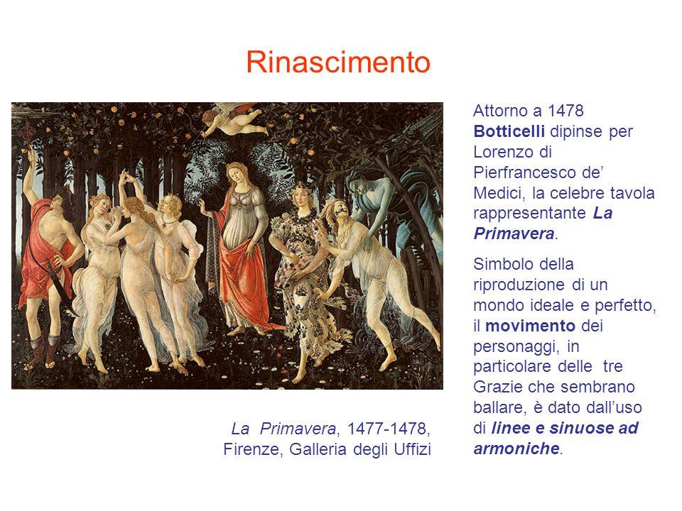 Attorno a 1478 Botticelli dipinse per Lorenzo di Pierfrancesco de Medici, la celebre tavola rappresentante La Primavera. Simbolo della riproduzione di